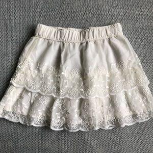LIKE NEW Carter's | toddler girl lace skirt 3T